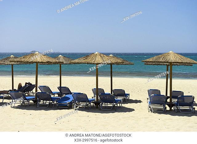 Naxos beach resort. Naxos island, Greece