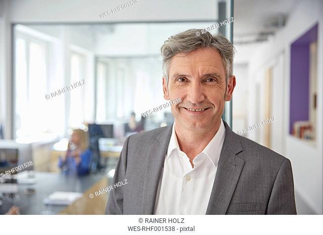 Mature businessman in office, portrait
