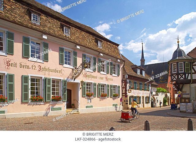 Deidesheim a.d. Weinstrasse, Gasthaus zur Kanne, Kreis Bad Duerkheim, Deutsche Weinstrasse, Palatinate, Rhineland-Palatinate, Germany, Europe