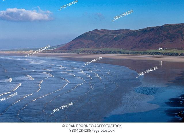 Rhossili Bay, Gower Peninsular, South Wales, UK