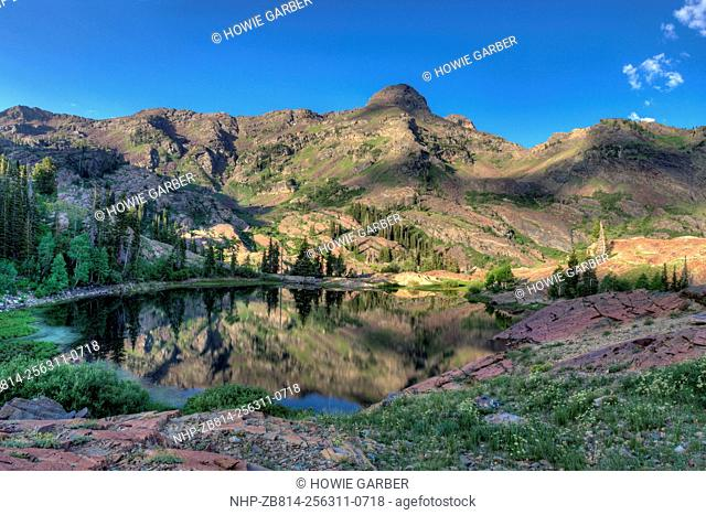 Lake Florence, Quartzite Rock, and Dromedary Peak, Lake Blanche Trail, Twin Peaks Wilderness Area, Big Cottonwood Canyon, Uinta-Wasatch Cache National Forest
