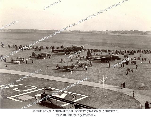 Battle of Britain air display at RAF Cranwell, 20 September 1947