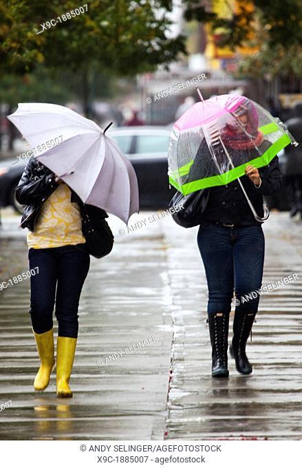 2 Women Walking in the Rain