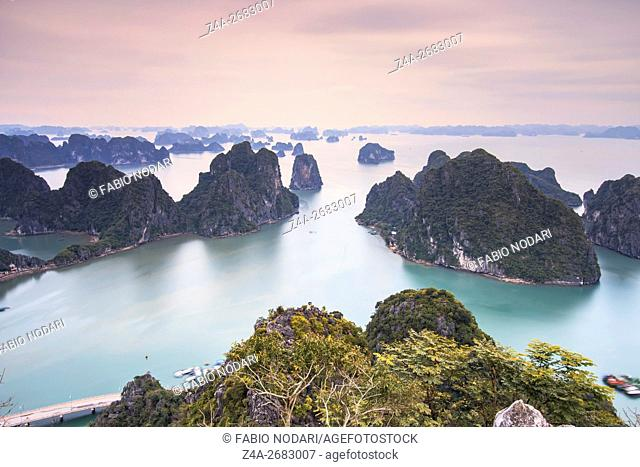 Panoramic view of Halong Bay, Vietnam
