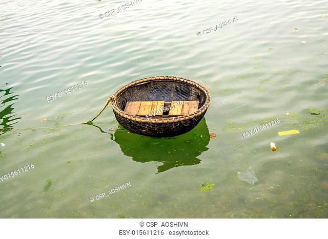 Boat on river at Quang Binh provinc