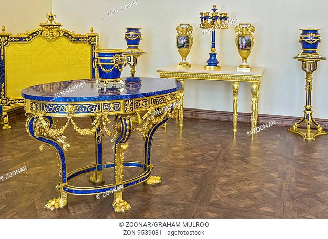 A Reception Room Catherine Palace Pushkin Saint Petersburg Russia