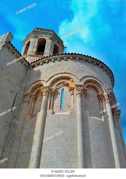 The Church of Santa Maria is a Romanesque church of the twelfth century, situated on the hilltop of the La Roca. Sant Martí Sarroca, Alt Penedès, Catalonia