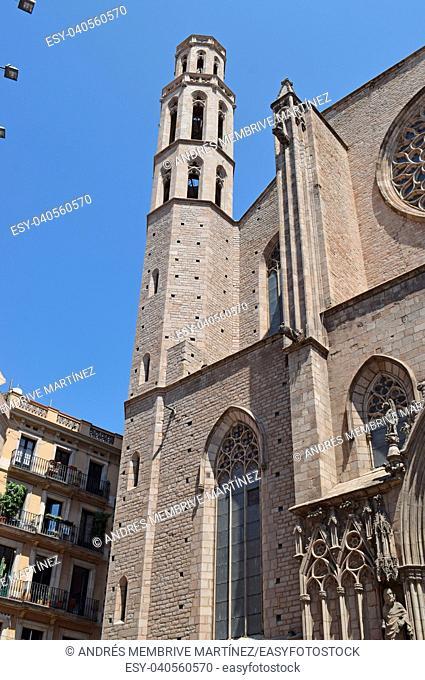 Church Santa María del Mar in Barcelona