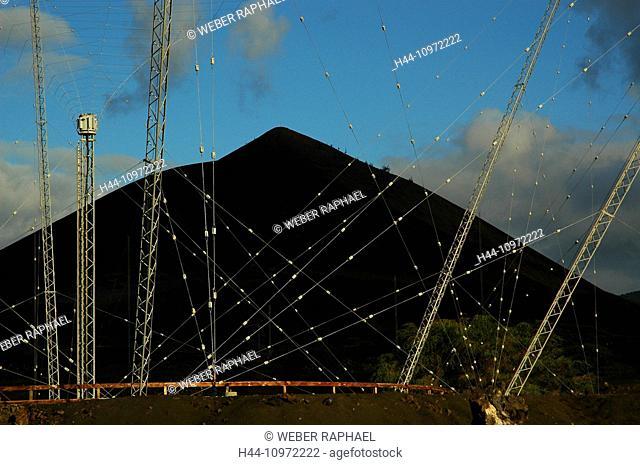 Ascension, Ascension Island, volcano, mountain, sisters peak, lava, lava field, one boat, antenna