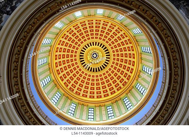 Interior View of Dome Oklahoma City Capitol Building