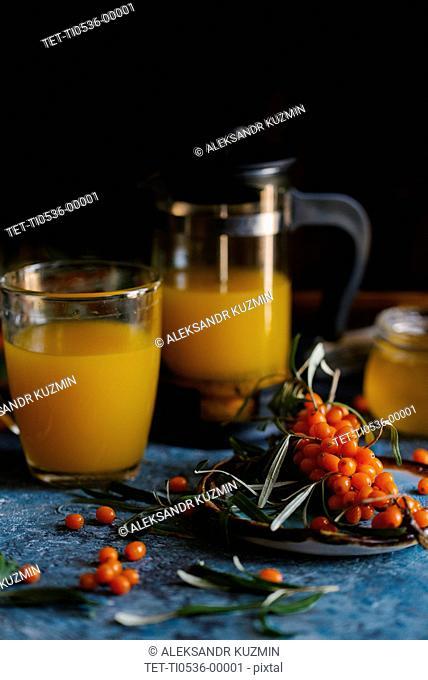 Sea buckthorn berry tea
