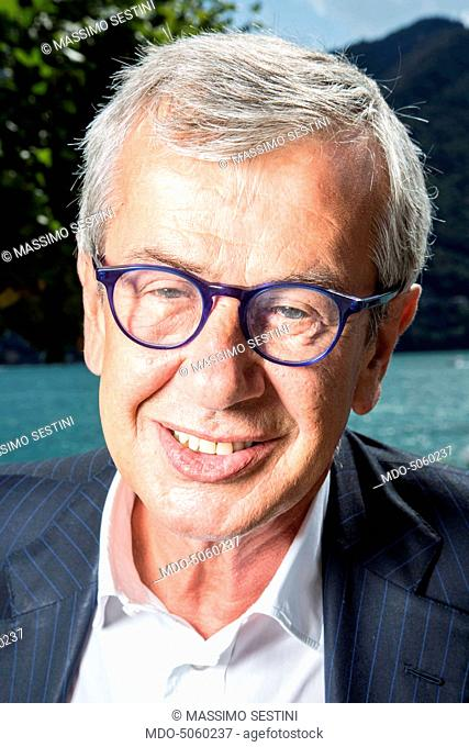 The politician Chicco Testa wearing Mondelliani eyeglasses at the Forum Ambrosetti in Villa d'Este. Cernobbio, Italy. 4th September 2015