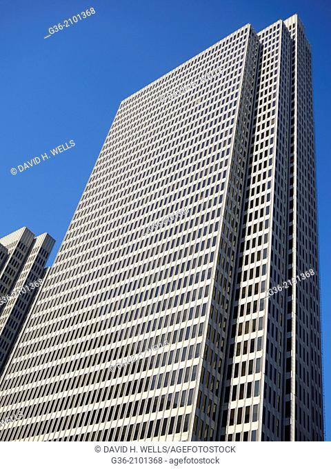 Skyscraper and blue sky in San Francisco, California, United States