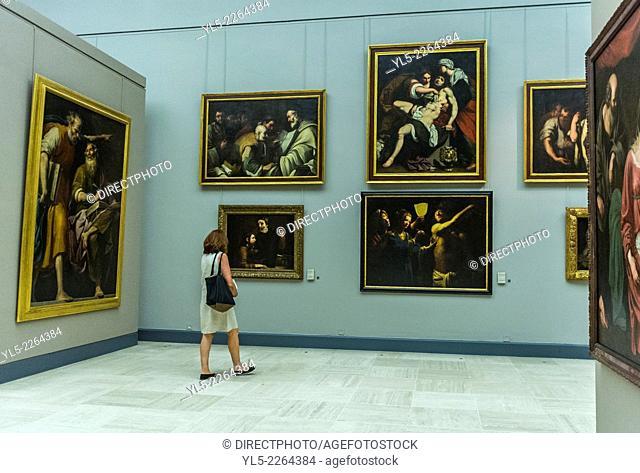 Bordeaux, France,, Tourists Visiting inside French Museum, Musée des Beaux-Arts