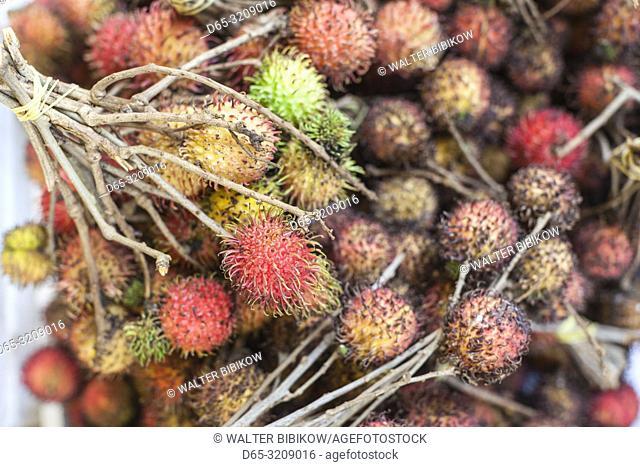 Cambodia, Siem Reap, tropical fruit, rambutan