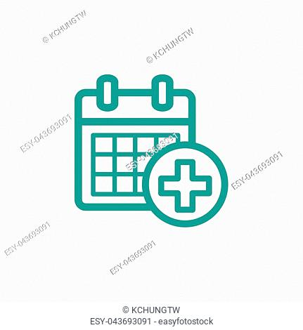 event calendar thin line icon isolated on beige background