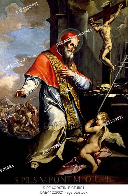 Pope Pius V (Bosco Marengo, 1504-Rome, 1572), painting, Church of Santa Corona, Vicenza