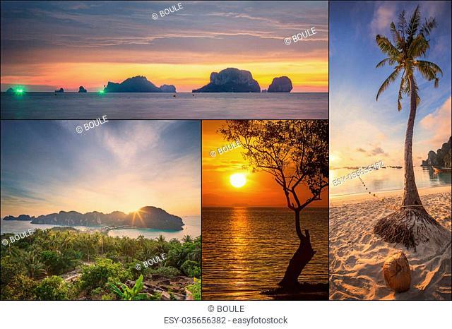 The beautiful panorama of Thailanda and islands. Asia