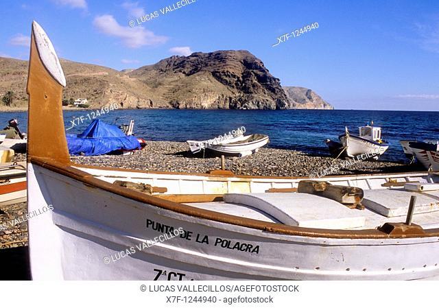 Las Negras Beach of las Negras  Cabo de Gata-Nijar Natural Park  Biosphere Reserve, Almeria province, Andalucia, Spain