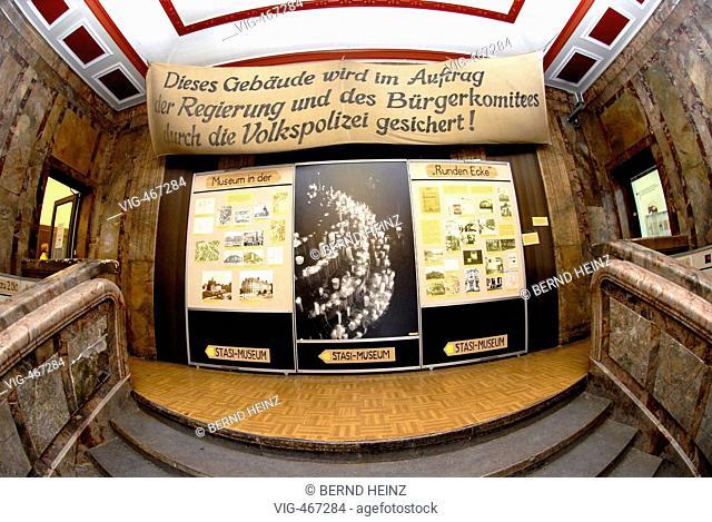 Im Gebaeude am Leipziger Dittrichring 24 befand sich 1950 bis 1989 die Bezirksverwaltung fuer Staatssicherheit Leipzig. Heute hat hier das Museum Runde Ecke...