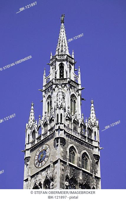 New Town Hall Tower Munich, Upper Bavaria, Germany