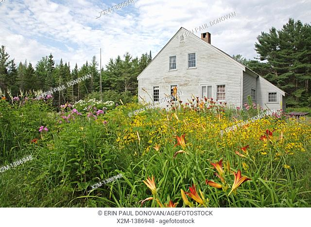 Swift River Railroad - The Russell-Colbath Historic Homestead which was part of the Passaconaway Settlement in Albany, New Hampshire USA  This area was the...