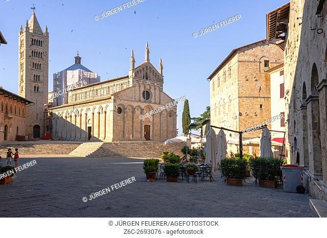 Cathedral San Cerbone in Massa Marittima, building of the Middle Ages, Tuscany, province Maremma, Italy
