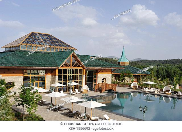 the Michlifen luxury hotel, Ifrane, Middle Atlas, Morocco, North Africa