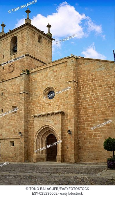 Caceres Concatedral Santa Maria church in Spain Extremadura