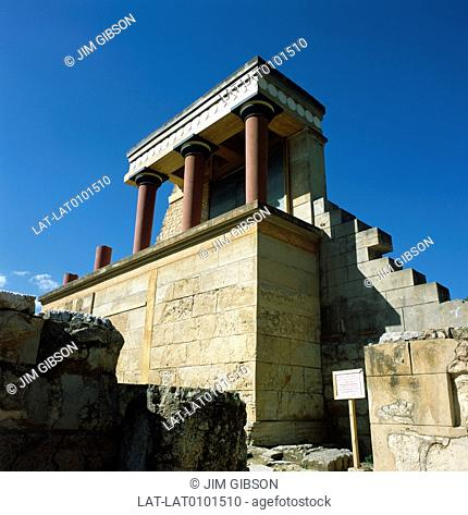 Knossos is the largest Bronze Age archaeological site on Crete,and was possibly the ceremonial and political center of the Minoan civilization and culture
