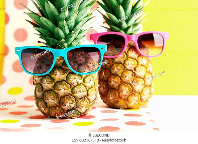 534c9fc4e8af Fashion pineapple sunglasses Stock Photos and Images | age fotostock