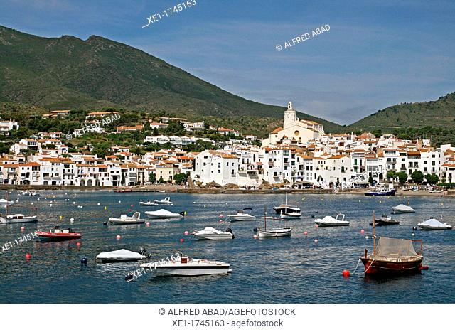 overview of Cadaques, Catalonia, Spain