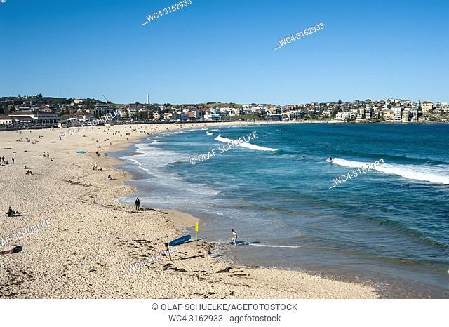 21. 09. 2018, Sydney, New South Wales, Australia - An elevated view of Sydney's famous Bondi Beach