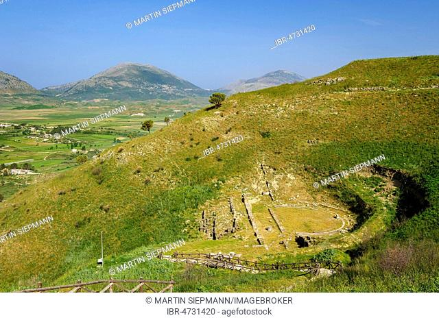 Amphitheater, ancient city Phoinike, Foinike, Finiq near Saranda, Qark Vlora, Albania