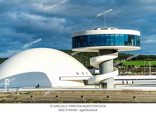 Niemeyer Center building, in Aviles, Spain, The cultural center was designed by Brazilian architect Oscar Niemeyer, was his only work in Spain