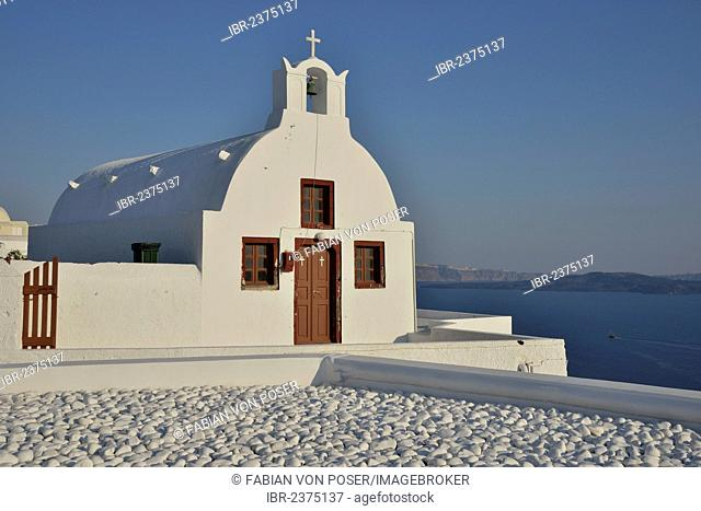 Chapel in Oia, Santorini, Cyclades, Greek island, Greece, Europe