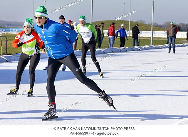 Prince Maurits of The Netherlands attends the charity race Hollandse 100 to raise money for the foundation against lymphoma Lymph & Co