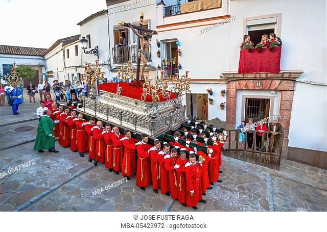 Spain, Andalucia Region, Cadiz Province, Olvera City, Holy Thursday Parade