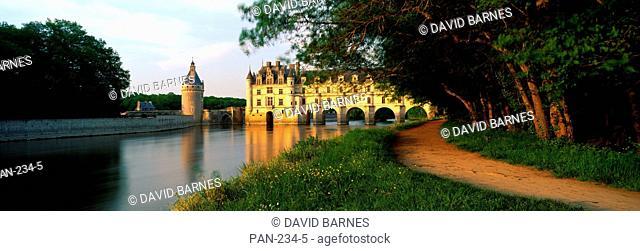 Chenonceaux Chateau, River Cher, Indre-et-Loire, Loire Valley, France, No Release