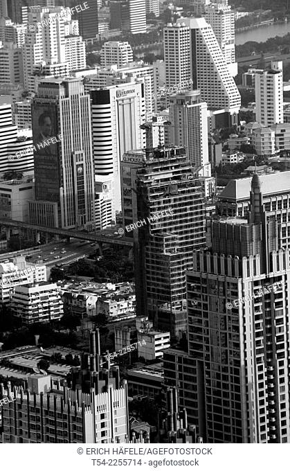View of the skyscrapers of Bangkok