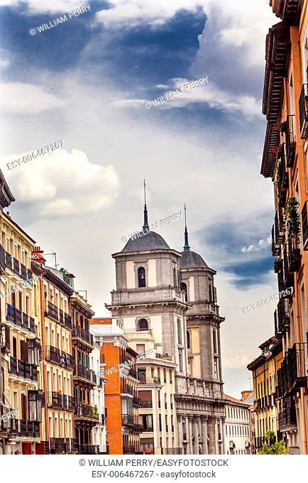 Santa Iglesia Collegiata de San Isidro Church Street Madrid Spain. Named after Patron Saint of Madrid, Saint Isidore, Church was created in 1651