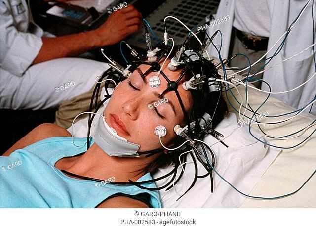 Electroencephalogram in a laboratory of nervous system mapping