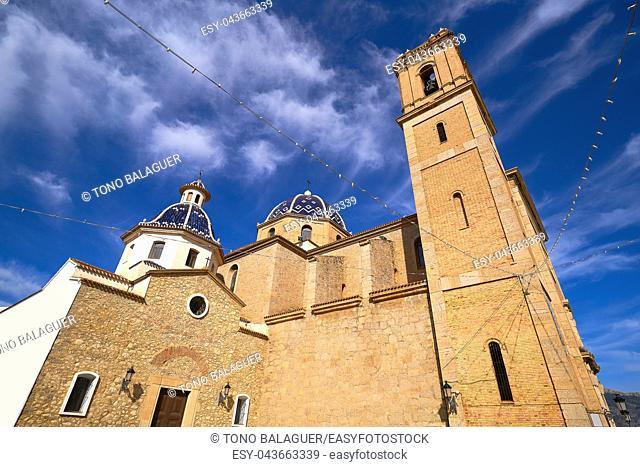 Altea church Consuelo in Mediterranean village of Alicante Spain