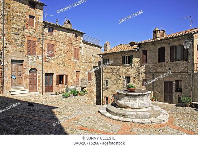 village of Castiglione d' Orica, Crete, Tuscany, Italy