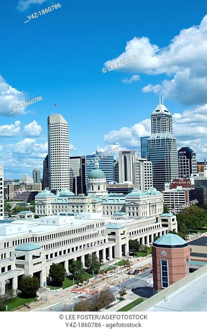 USA, Indiana, Indianapolis skyline