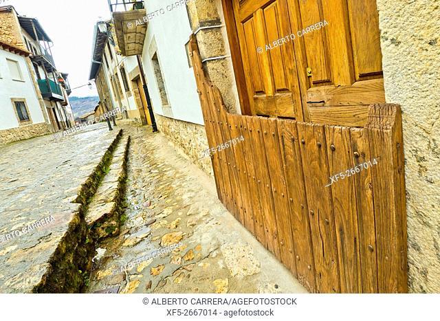 Batipuerta,Traditional Door, Candelario, Ruta de la Plata, Salamanca, Castilla y León, Spain, Europe