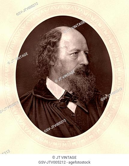Alfred, Lord Tennyson (1809-92), Noted English Poet, Portrait, circa 1870