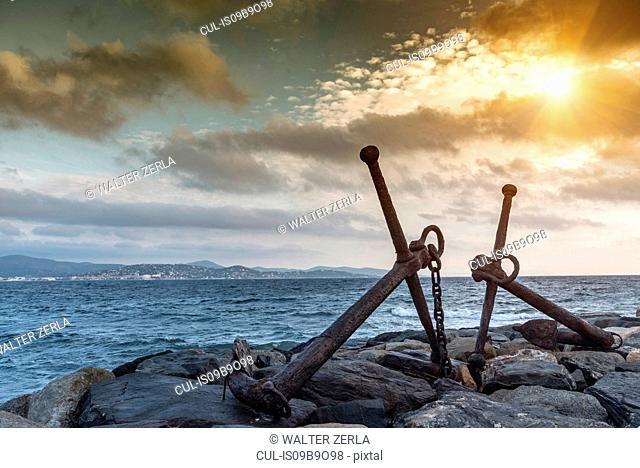 Anchors, Le Vieux Port, St Tropez, Provence-Alpes-Cote d'Azur, France