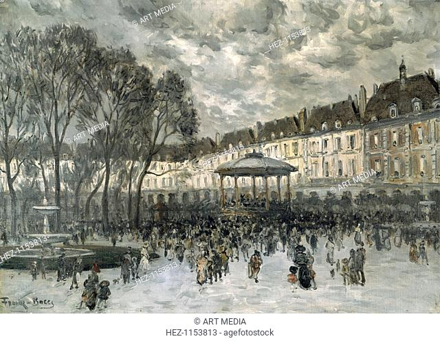 'Place de Vosges, Paris, day of a Concert', late 19th/early 20th century. From the Musee d'Art et d'Histoire, Meudon, France