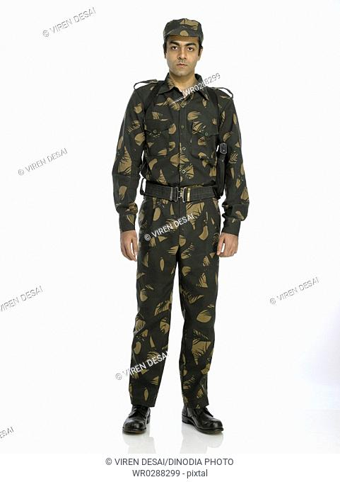 Indian army soldier standing in relaxed position MR702A